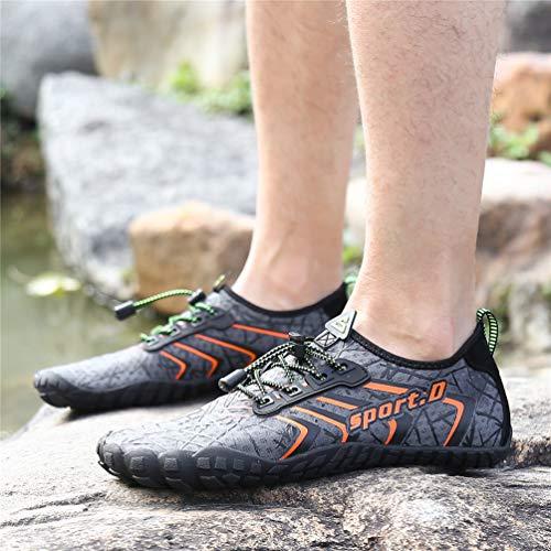 Chaussures Femme Aquatiques Pour Léger Plongée De Piscine Convient Respirant Plage Gris A Ubfen Gymnase Homme Surfer Yoga Orange Sport qdSw4n1x