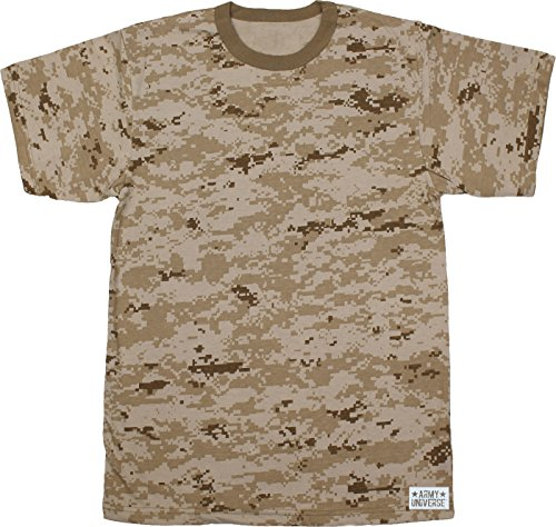 Army Universe Desert Digital Camouflage Short Sleeve T-Shirt with Pin -  Size Medium (37