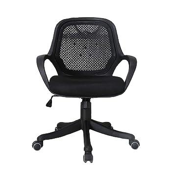 Silla de trabajo, silla giratoria, silla de oficina ergonómica de malla con respaldo ajustable