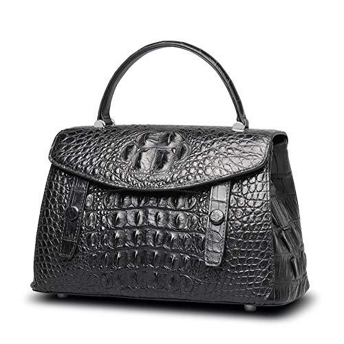 Diagonal Main à pour Noir black Croco à Fashion Sacs épaule Classique Cuir D WWAVE Tendance Dames en Sac Main 7wv4n5qR