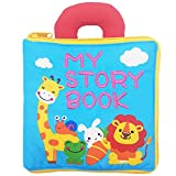 My First Cloth Book with Zipper - Baby Early Learning & Education Books Toy for Toddler, Infants and Kids - Perfect Baby Shower Gift