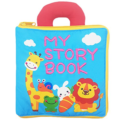 My First Cloth Book with Zipper - Baby Early Learning & Education Books Toy for Toddler, Infants and Kids - Perfect Baby Shower Gift by Rolina