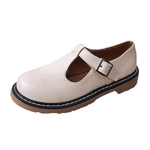 Zapatos de Vestir Plano para Mujer Otoño Primavera PAOLIAN Calzado Fiesta Elegantes Piel Sintético Botines Tacón Bajos Zapatillas Aire Libre Negro Casual ...