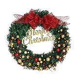 Garland Christmas Decor, Inkach 40cm Hanging Wreath Ornament Door Wall Garlands Home Decorations (Multicolor)