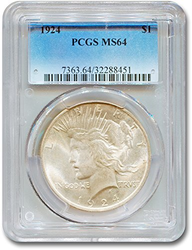 1924 Peace Dollar MS-64 PCGS