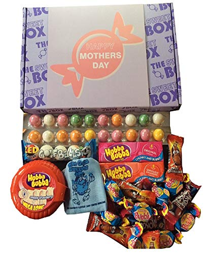 Happy Mothers Day The Sweet Box Bubble Gum Chewing Gum Mixed Sweets Retro Gift Box