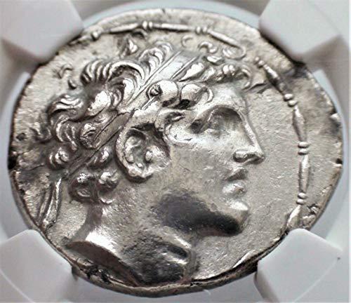 Coin Silver Tetradrachm Ancient Greek - GR 152-145 BC Ancient Seleucid Empire Alexander I Antique Silver Coin Rare Coins AR Tetradrachm Choice Extremely Fine NGC