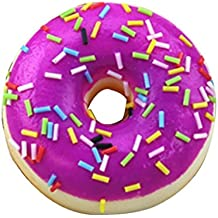 Drfoytg Stress Reliever Toys Fun Squishy Toy Doughnut Decompression Slow Rising Squeeze Cream Scented Colourful (Multicolor)