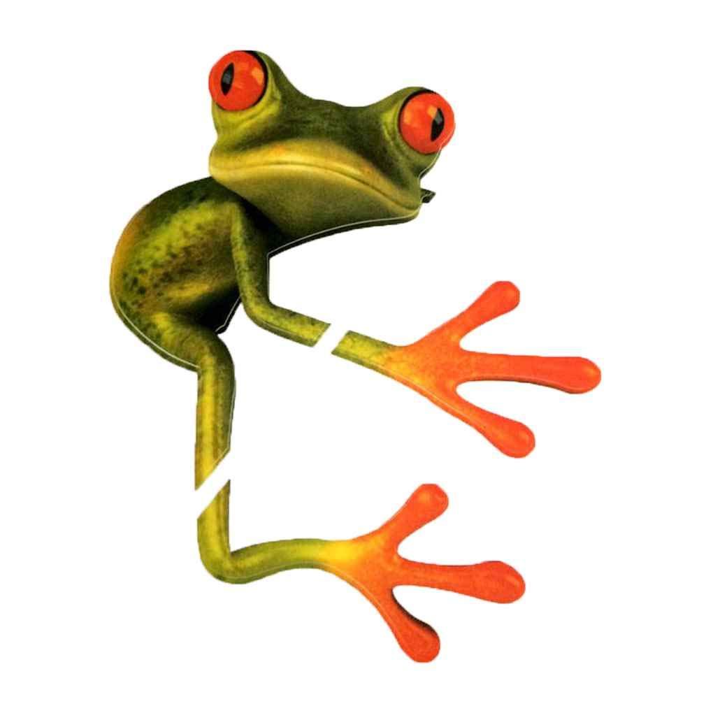 Bobury Universal Car Sticker 3D Peep Frog Funny Car Stickers Camion Stereo Rana Decalcomania della Finestra Wrap Decor
