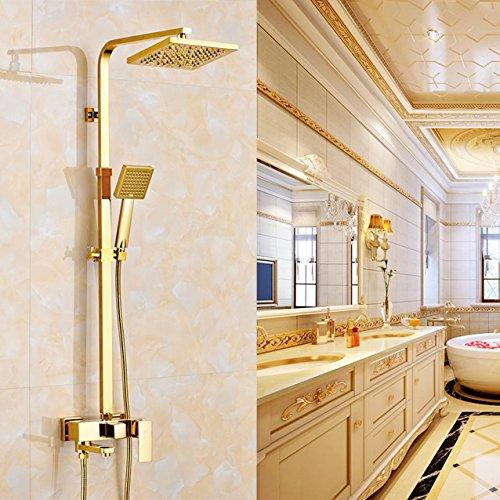 Rozin Gold Polished Bathroom Square 8
