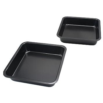 ltui Mini cuadrado para tartas 8 Inch para tartas bandeja para hornear antiadherente - molde para tarta para hacer pan: Amazon.es: Hogar