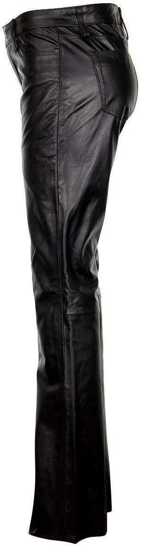 Xelement XS679 Womens Black Buffalo Leather Pants 2