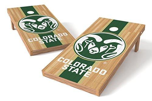 - Wild Sports NCAA College Colorado State Rams 2' x 4' Hardwood Authentic Cornhole Game Set