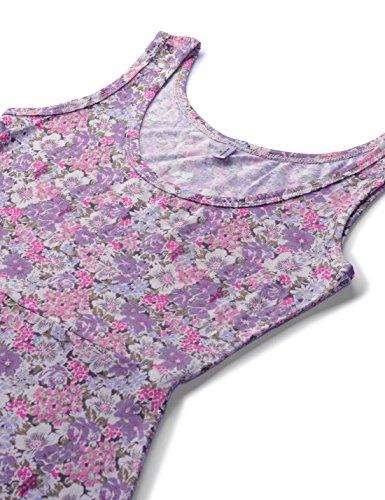 Sleeveless Floral Neck Womens Pattern U Figure 384purple Dress Hugging Nknkwmd734 NEARKIN 0q7wUXw