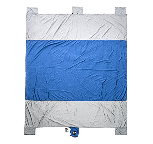 WildHorn Outfitters Sand Escape Beach Blanket. Compact Outdoor Beach Mat Made from Strong Parachute Nylon. Large...
