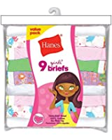 Hanes Girls' No Ride Up Cotton Colored Briefs 9-Pack - Best Seller!