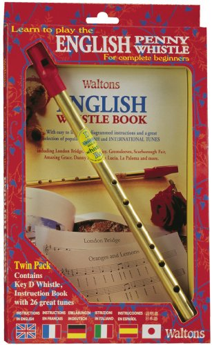 Waltons English Penny Whistle Value Pack - Key of D - Fully Diagrammed Instructions Included - For Beginners ()