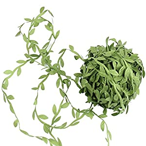 2 Pack (Each 132FT) Artificial Leaf Vines DIY Wreaths Flower Hanging Plants Ivy Garlands Green Fake Leaves Decorative Wedding Party Garden Outdoor Greenery Decorative 98