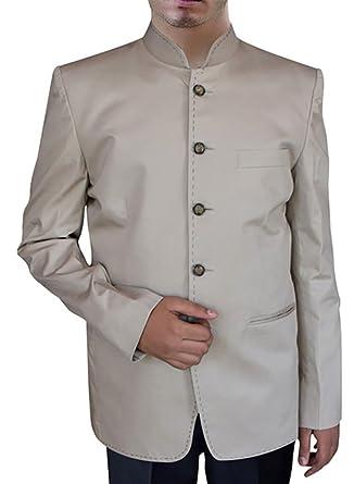 INMONARCH Hombres algodón Natural Espectacular Traje Nehru 5 ...