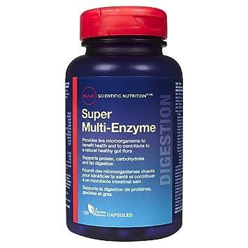 Amazon.com: GNC Super multi-enzyme, 120 °Cápsulas veg ...