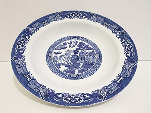 Cuthbertson Blue Willow - Royal Cuthbertson Blue Willow Rim Soup Bowl 8 3/8 Inches