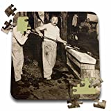 Scenes from the Past Magic Lantern Slides - Vintage Glass Blowers in New Jersey - 10x10 Inch Puzzle (pzl_269858_2)