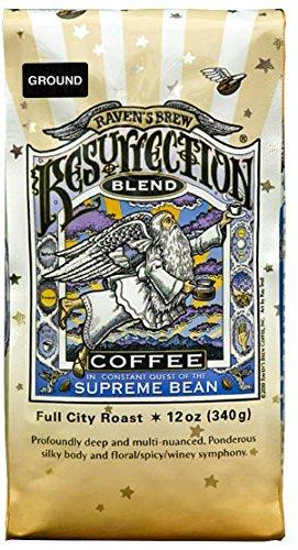 Ravens Brew Ground Coffee (Resurrection Blend) Plate Print Unique Gift