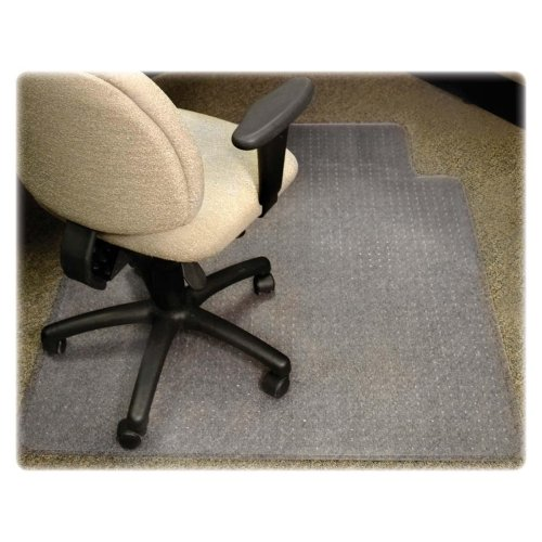Lorell 25752 Antistatic Chairmat, Low Pile, Lip 25''x12'', 46''x60'', CL by Lorell