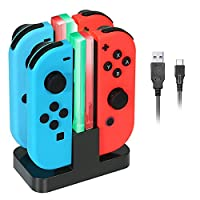 Deals on Kingtop Nintendo Switch Joy-Con Charging Dock Stand