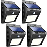 Solar Outdoor Patio Deck Lights 25 LED – Outside Motion Sensor Security Sun Powered Lighting For Yard, Backyard, Pathway, & Driveway, 4 Pack