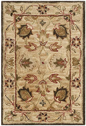 Safavieh Antiquities Collection AT812A Handmade Traditional Oriental Beige and Beige Wool Area Rug...