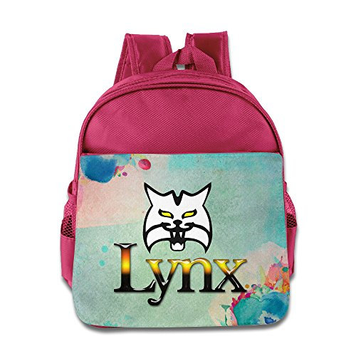 Price comparison product image BERTHA Lynx Wolf Pattern Backpack For Kids In Nursery Pink
