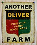 MMNGT Another Oliver Farm Tin Sign Tractor Country Barn Garage Kitchen Home Decor TIN Sign 7.8X11.8 INCH