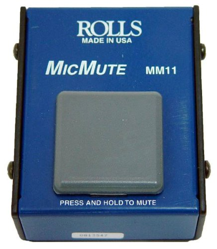 Rolls MM11 Microphone Muting Switch Designed to Temporarily Mute a Balanced XLR -