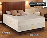Comfort Pedic Firm Pillow Top (Eurotop) Mattress & Box Spring (Queen - 60''x80''x11'') - Sleep System with Enhanced Foam Encased Support- Fully Assembled, Plush Knit Cover