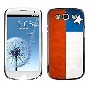 YOYO Slim PC / Aluminium Case Cover Armor Shell Portection //Chile Grunge Flag //Samsung Galaxy S3