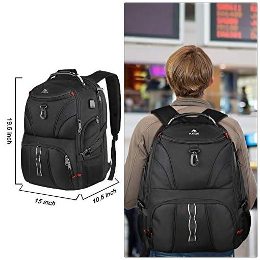 Large 17inch Laptop Backpack,Travel Carry On Backpack,Water-Resistant College Bookbag Overnight Weekender Bag Rucksack
