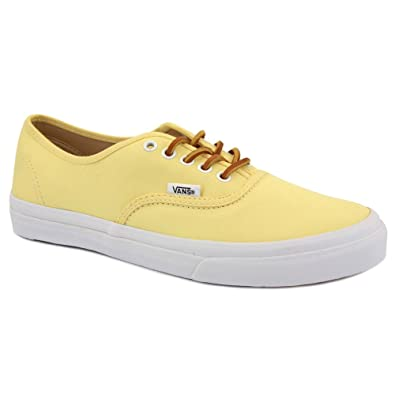 Vans Authentic Slim QEV7GT Womens Laced Brushed Twill Canvas Trainers Yellow  - 4  Amazon.co.uk  Shoes   Bags d8c694328