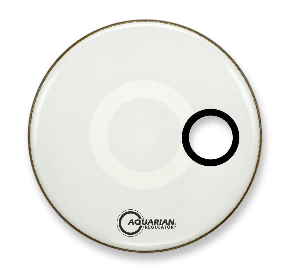 Aquarian Drumheads RSM16WH Regulator White 16-inch Bass Drum Head, gloss white
