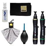 Nikon LensPen Pro Cleaning Kit + Spudz Microfiber Cloth + Lens Cleaner Fluid + Air Blower