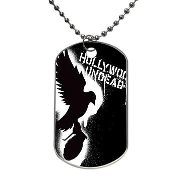 Amazon.com: Futefew Custom Dog Tag Hollywood Undead Logo -Merry ...
