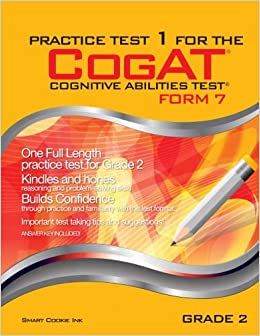 Amazoncom Practice Test 1 For The Cogat Form 7 Grade 2 Level