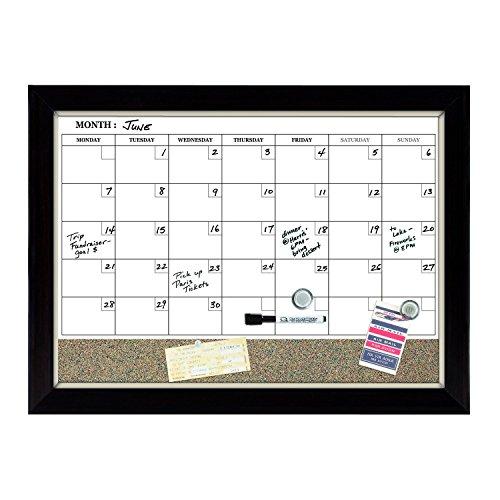 Calendar Bulletin Board Combo : Quartet dry erase board cork magnetic quot