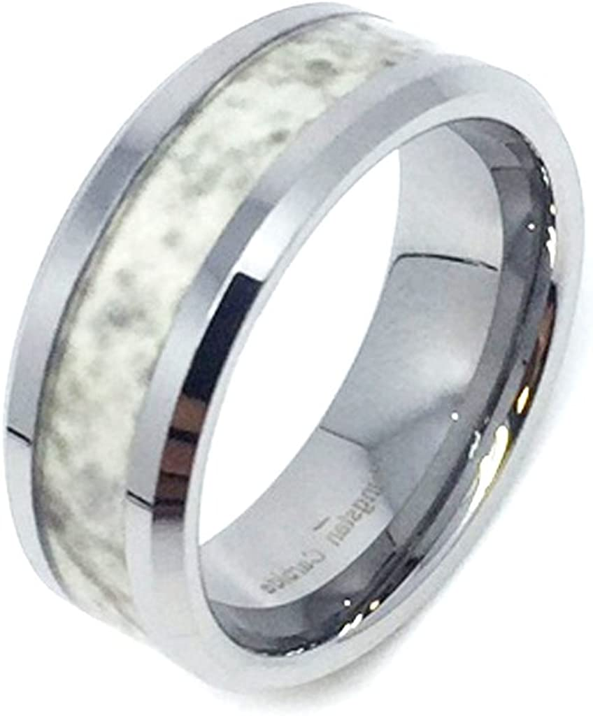 8mm Tungsten Carbide Classic Comfort Fit high Polish Wedding Band Ring for Men or Ladies