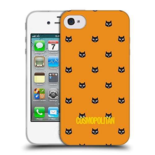 Official Cosmopolitan Orange Lovey The Cat Soft Gel Case for Apple iPhone 4 / 4S