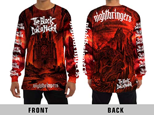 The Black Dahlia Murder (Nightbringers) Melodic Death Metal Rock Band Unisex Adult Sublimation Print Long Sleeve T-Shirt ()