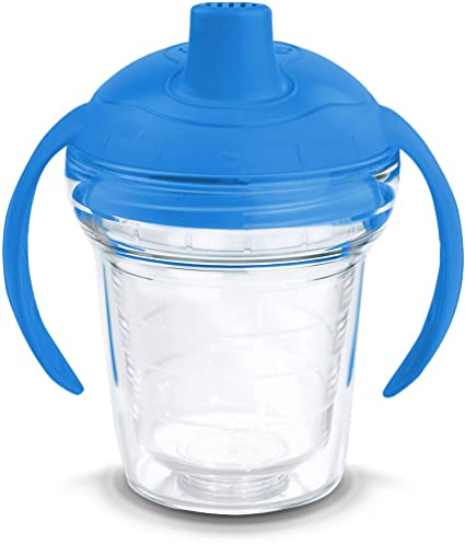 fd2ac04fe67 Tervis 1178384 Clear Tumbler with Wrap and Rocket Blue Lid 6oz My First  Tervis Sippy Cup, Clear