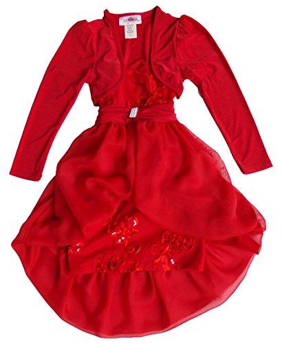 12 Set Vestito Chiffon Palloncino A Rosso XpTxaHq