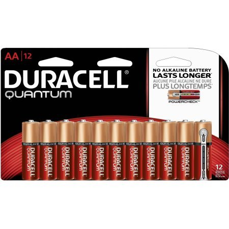 Duracell Quantum AA Alkaline Household Batteries 12 Count Pack