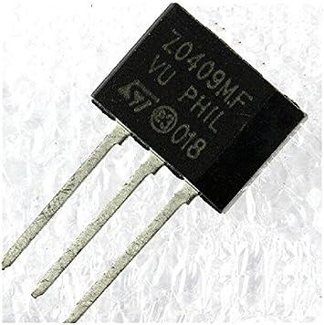 2 pcs Z0409NF  Triac 800V 4A  10mA  TO202   STM  NEW